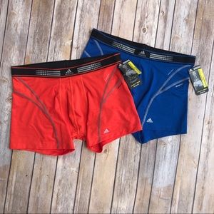 adidas Shorts - NWT 2 Adidas Blue & Orange Mens Compression Shorts